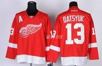 Detroit Red Wings #13 DATSYUK Red Jersey Home New Ice Hockey Jerseys  Free Shipping