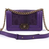 Chain bag shoulder genuine leather bag embossed fashion handbags sale online