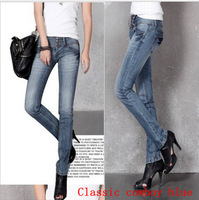 New Slim breasted fashion fashion models wild straight jeans Free shipping seasons