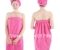 Free shipping Super Absorbent thick adjustable microfiber bath skirt towel with gluing/velcro for adult 70x140 cm 280 g per pc