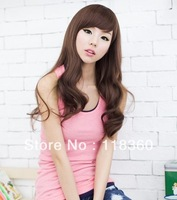 Sweet Fashion Girls' Long Curly Hair Synthetic Wavy Wig With Free Shipping