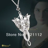 925 sterling silver jewelry Lord of the Rings Wizard Princess Evening Star Pendant Gfit necklace Free shipping