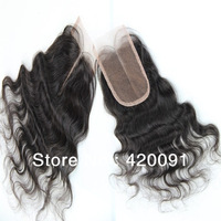 "10""-20"" Virgin Brazilian Body Wave 4""x4"" Middle Part Lace Closure Bleached Knots perruque for north face women free shipping"