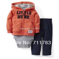 retail new carter's babyboy 3 pcs cardigan +shortsleeve bodysuit  with pants set,carter's boy outwear seet,