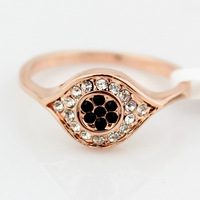 New arrive Fashion crystal jewelry for the women,Delicate rose gold ring,Cute little finger ring Wholesale Free Shipping