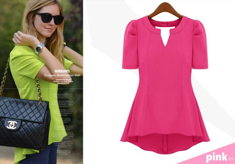 Neon Pink Chiffon Blouse 110