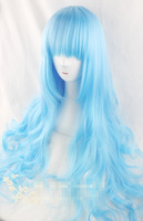 Sheryl Nome cosplay wigs Queen Cosplay wig ice blue long curly hair 80cm