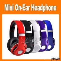 Wholesale Free ship by DHL -High Definition mini foldable headphone On Ear Headphone 5 colors in stock