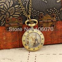 Free Shipping Wholesale Dropship 2013 Clock Women Mini Gifts Bronze Vintage Cut Roma Fashion Quartz Pocket Watch Roman Numerals