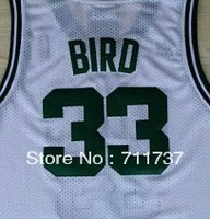 Free Shipping,Wholesale Basketball Jersey,#33 Larry Bird 2013 Rev 30 jersey,Embroidery Logos,Size S--3XL,Can Mix Order