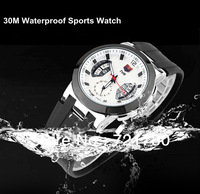 Christmas Gift,2013 New TVG Brand Watch High Quality 30AM Dive Waterproof Military Watch Japan Movt Silicone Sports Watches Men