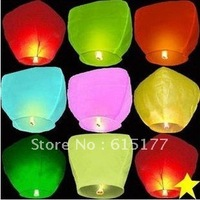 Drop Shipping 20pcs Mixed Color Free Shipping UFO Sky Wishing Lantern Chinese Lantern Wedding Xmas Halloween Lamp