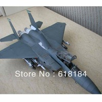 Free shipment Paper Model airplane diy toys 60cm long 1:33 US F15E Strike Eagle aircraft military crafts 3d puzzles for adults