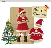 Christmas Fashion Baby Clothes 100% Cotton Anti-static Christmas Baby Romper Christmas Costume Kids Free Shipping