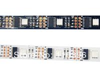 5v addressable 5m 32 pcs smd 5050 rgb digital  ws2801 led strip;programmable ws2801 ic 32 pixel/m black/white pcb