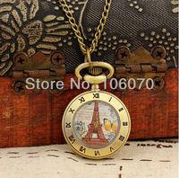 Fashion Women Necklace Clock Mini Gifts Pocket Watch Butterfly Pendant Free Shipping Wholesale Dropship XH165