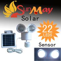 2013 New Solar Powered Lamp Outdoor 22 LED/LEDs Lights Wall Light Ray/Sound Sensor Light Outdoor/Garden Energy-saving Lighing