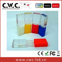 Wholesale or Retail Top grade Transparent Light Crystal USB memory stick Gift Engraving Logo 2GB,4GB,8GB,16GB, Free Shipping