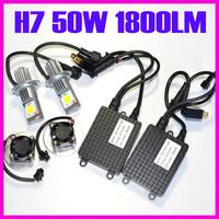 Super bright 50w Cree LED Car headlight 12V 24W 1800LM H7 H11 9005 HB3 9006 HB4 H16 Auto bulbs fog light