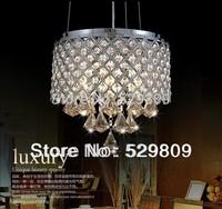 Free shipping  modern fashion k9 crystal pendant light lustres e pendentes lighting for dining room
