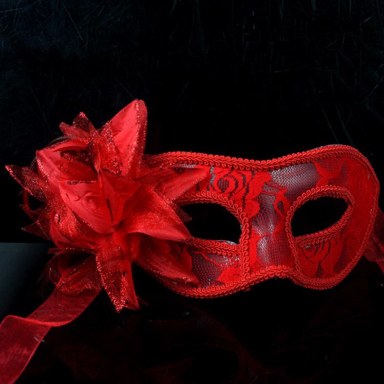 Fashion HandMade Party Wedding Lace Mask Dance Mask Costume Venetian Masquerade Christmas Docaration Flower Mask free shipping(China (Mainland))