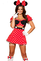 Wholesale!FREE SHIPPING!(10pieces) 100% Brand New Women's Sexy lingerie,Miss Mouse Costume LC8719
