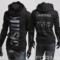Free Shipping Hot Men's Hoodies Wind Personality Letter Print Pullover Sweatshirt Casual Slim Outerwear Men's Clothing M-XXL