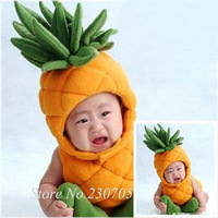 Unisex Infant Baby Pineapple Costumes Outfit, Newborn clothing, Hat + Jumpsuit+ Shoes, Newborn Photography Props Free shipping