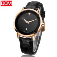 watch men    Dom  retro   vintage leather   casual quartz      mens watches men wristwatches relogio masculino watch man relojes