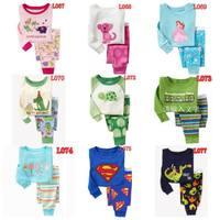 Children Pajama Sets for Baby Toddler Kids Boys Cotton Pajamas Man Cartoon Design kids pajamas  /Size 2T-7T