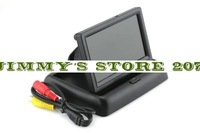 "4.3"" Foldable Digital TFT LCD Car Rearview Monitor for Camera Folded Black"