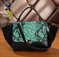 Luxury Women leather Handbags designers brand Bags Genuine Leather Snake Pattern shoulder Tote Fashoin handbags Messenger Bag