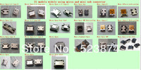 21 models 42pcs/lot mixed together mini usb female connector micro USB connector free shipping