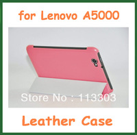 Three Folder Stand Case Slim Protective Fashion Cover for Lenovo A5000 7 inch Tablet PC Free Shipping