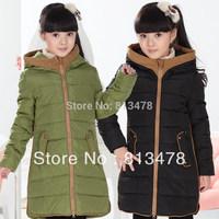 Children's clothing down coat child down coat medium-long female child thickening outerwear children winter warm clothing