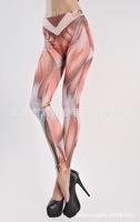 2014 Hot Sale Women's Muscle Tattoo printed Leggings for women Pants wholesale H310