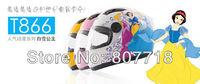 T866 Children's Motorcycle Helmet Snow White Safety Helmet for Girl Cute Full Face Kids' Helmets 4 colors Free Shipping S7097