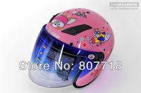 T855 Children's Motorcycle Helmet Cartoon Safety Helmet for Girl Cute Half Face Kids' Helmets 5 colors Free Shipping S7098