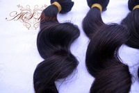 "3 Bundles Malaysian Virgin Hair Weft Loose Wave 12""-28"" human hair extension free shipping"