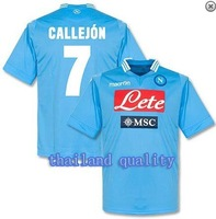 Wholesale ! TOP thailand QUALITY Napoli 13-14  Home blue Jersey soccer shirt CALLEJON 7 free  shipping S,M,L,XL