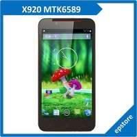 X920 MTK6589 5.0 Inch Touch Screen Android 4.1 Cortex A7 quad core 1280*720 Dual SIM Card Cell Phone Free Shipping