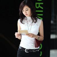 2014 new women cotton knitted lace sleeveless tank tops plus size causal sleeveless lace tops women