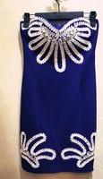 Vestido corset Fashion summer women's  Vestido De Corto fiesta corset vintage one-piece dress blue Polleras Falda corset saia