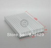 Aluminum heat sink electronic radiator  PCB cooling block 100 * 60 * 10MM 5pcs/lot Free shipping