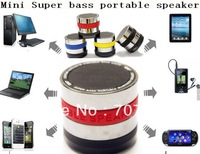 Free 20pcs mini portable bluetooth subwoofer Speaker with mic ,Handsfree bass Speaker for Iphone 4s 5 for ipad for samsung
