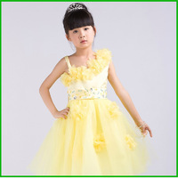 2013 New Arrival Kids Party Gowns A-Line Straps Tulle And Satin Flower Girls Dress With Flower Girls Party Dresses