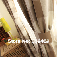 American 100% cotton yarn dyed plaid curtain customize