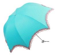 Hot sale elegant folding women sun umbrella girls lacy umbrella six color free shipping