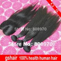 3bundles unprocessed brazilian virgin hair hlace closure with bundles natural straight  free rosa shiping hair products
