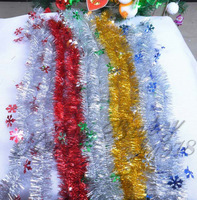 Free Shipping 10pcs/lot Little Snowflake Christmas Colour Bar Christmas Decorations and Party Decorations